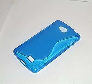 Carcasa flixigel Funda s-line antigolpe tpu silicona gel para lg f60 d390n Azul