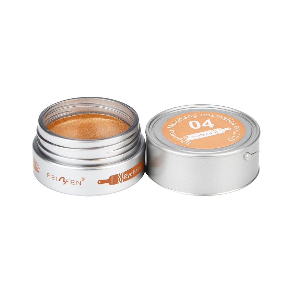 New Arrival Metallic Matte Eyeshadow Cream Eye Shadow Pigment Makeup Palette Shimmer Glitter Cosmetic for Women Girls (Gold)
