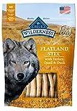 Blue Buffalo Wilderness Grain Free Dog Treats Flatland Feast Stix With Turkey, Quail & Duck 6Oz
