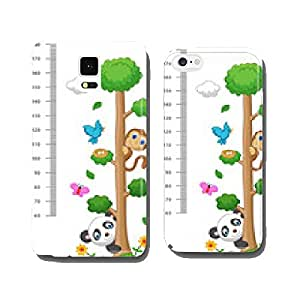 Wall meter with three and wild animals cell phone cover case iPhone5