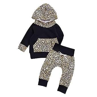 0f0dd216f996 Amazon.com  Kehen Fashion Leopard Infant Baby Toddler Girl Spring ...