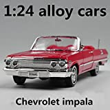 Chevrolet Impala Car Model Children's Toy Vehicles Vehicles, Metal Diecasts, Freewheeling, Gift