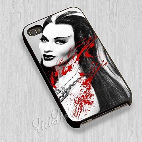 Lily Munster pour Coque Iphone 6 et Coque Iphone 6s Case (Noir Boîtier en plastique dur) T5K1IN