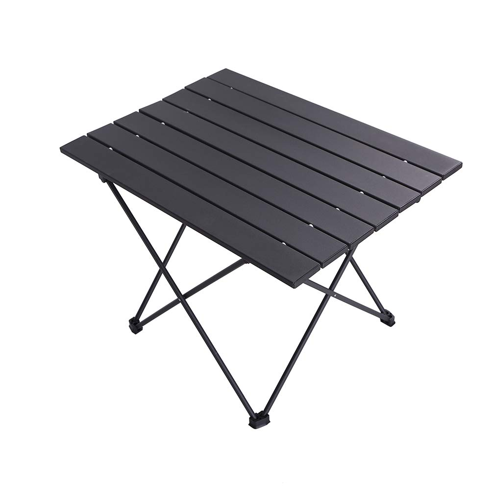 Portable Compact Roll Up Camp Table 3 Size Lightweight Picnic Table with Carry Bag for Hiking Aluminum Folding Camping Table BBQ Fishing and Travel- M