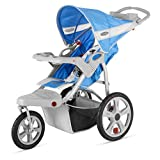 Brand New For Baby InStep Safari Single Swivel Wheel Baby Jogging Stroller - Blue/Grey | AR190
