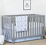 Petunia Pickle Bottom Southwest Skies 3 Piece Crib Bedding Set, Blue/Gray/White
