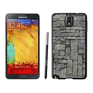 NEW Unique Custom Designed Samsung Galaxy Note 3 N900A N900V N900P N900T Phone Case With Stone Wall Texture Pattern_Black Phone Case