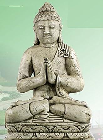 DEGARDEN AnaParra Figura Buda Grande Placer para el jardín Decorativa 83cm. hormigón Color Ceniza: Amazon.es: Jardín