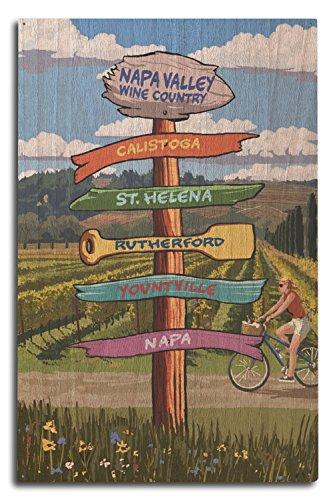 Napa Bedroom - Napa Valley Wine Country, California - Destination Signpost (10x15 Wood Wall Sign, Wall Decor Ready to Hang)