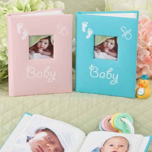 BABY Brag Book PHOTO Album for PURSE of Desk - New MOM - GRANDMA - 1st PICTURES (GIRL - Pink) ()