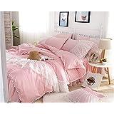 Generic Princess Bedding Set, Girls Bedding Set, Milliken Ball Duvet Cover Set, Jade Pink Comforter Set, Twin 3-Pieces