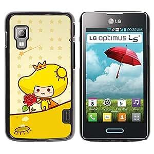 Be Good Phone Accessory // Dura Cáscara cubierta Protectora Caso Carcasa Funda de Protección para LG Optimus L5 II Dual E455 E460 // Cute Princess Rose