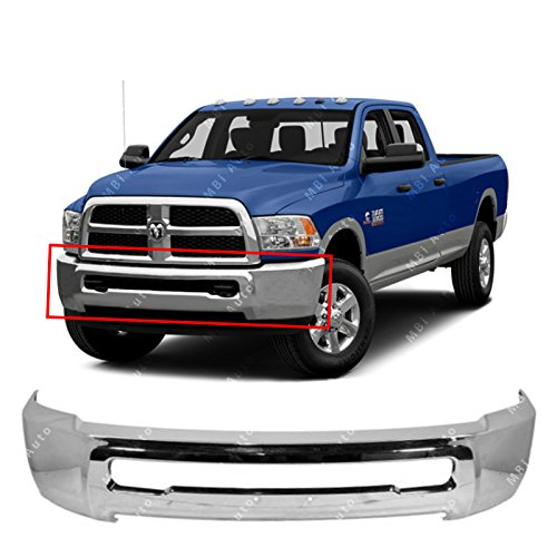 (MBI AUTO - Chrome, Steel Front Bumper Face Bar for 2010-2018 Dodge RAM 2500 3500 Pickup 10-17, CH1002391)