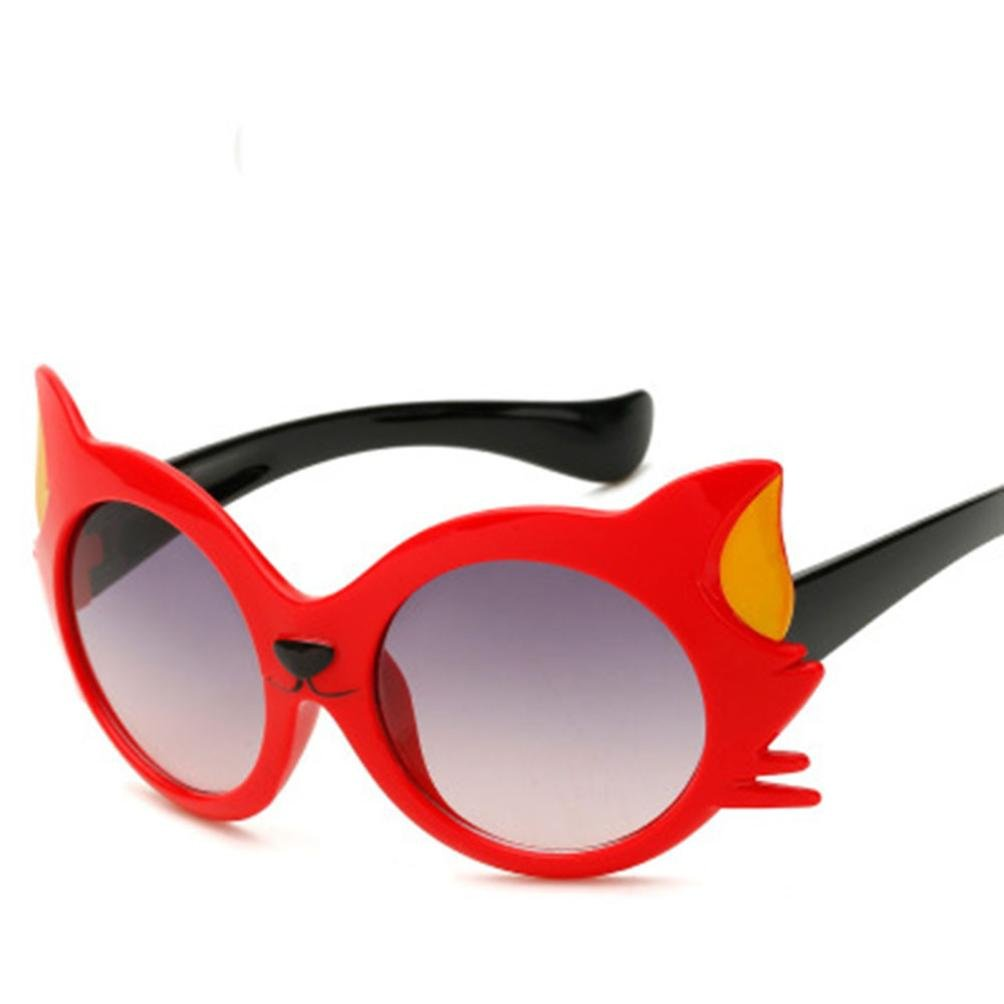 GreatestPAK Summer Children Cartoon Cat Ears Sunglasses, Baby Girls Boys UV400 Cool Sunglasses Party Favors Cute Gift