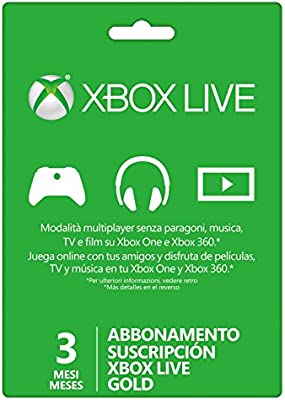 Microsoft - Live 3 Meses Gold Card (Xbox 360/One): Amazon.es ...