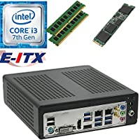E-ITX ITX350 Asrock H270M-ITX-AC Intel Core i3-7100 (Kaby Lake) Mini-ITX System , 32GB Dual Channel DDR4, 960GB M.2 SSD, WiFi, Bluetooth, Pre-Assembled and Tested by E-ITX
