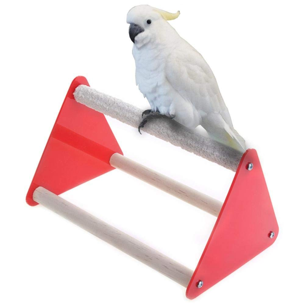 Yevison Premium Quality Parrot Stand Grinder Claw Rubber Bird Toys Triangle Ladder Acrylic Pet Toys by Yevison