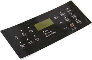 316419503 Range Oven Control Overlay Genuine Original Equipment Manufacturer (OEM) Part Black
