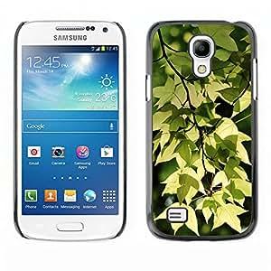 El inicio del otoño - Metal de aluminio y de plástico duro Caja del teléfono - Negro - Samsung Galaxy S4 Mini i9190 (NOT S4)
