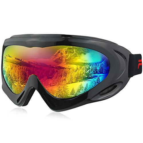 Fantastic Zone Ski Goggles, Ski Snowboard Skate Glasses for Kids, Boys & Girls, Youth, Men & Women, with UV 400 Protection, Wind Resistance, Anti-Glare - Discount Goggles Ski