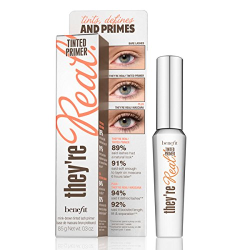 (Benefit They're Real Tinted Lash Primer, Mink Brown, 0.3 Ounce)