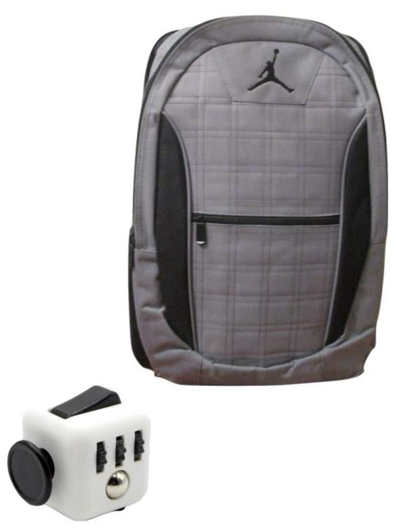 Nike Jordan Jumpman23 Lockdown Backpack (Gray w/Black Trim) + FREE FIDGET CUBE (Gray)
