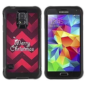 Suave TPU GEL Carcasa Funda Silicona Blando Estuche Caso de protección (para) Samsung Galaxy S5 V / CECELL Phone case / / Merry Christmas Plum Red Chevron Pattern /