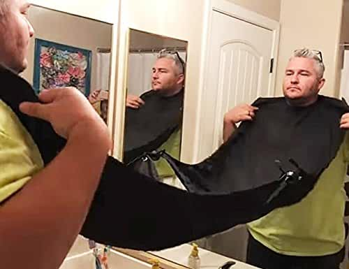 AMTOK Beard Catcher Apron Beard Cape for Shaving,Trim Your Beard In Minutes Without The Mess