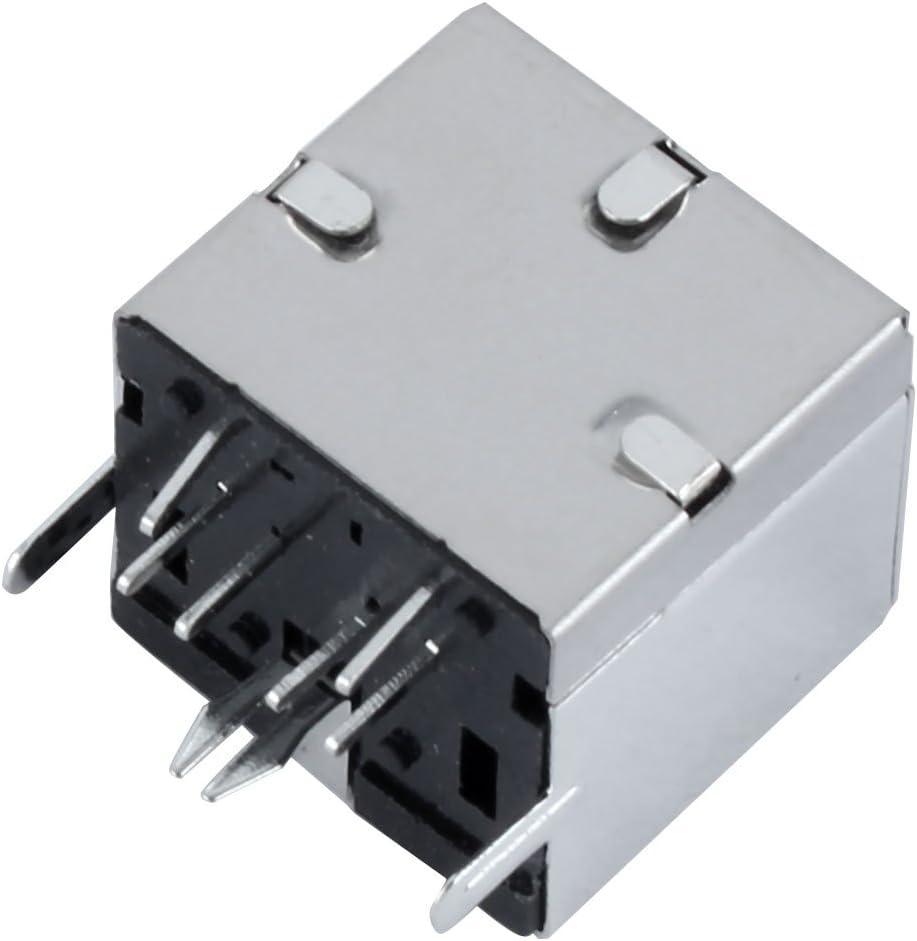 Conectores de teclado 5 PC Montaje en PCB DIN de 6 pin  hembra negro