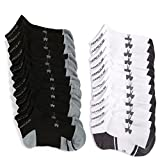 Sporting Goods : Men's Under Armour Resistor No-Show Socks (Large, 6 Black/6 White)