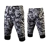 Hot Sale Leedford Men Sport Gym Fitness Jogging Elastic Stretchy Bodybuilding Sweatpants Camo (M, Gray)