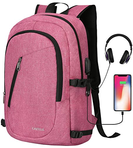 Laptop Backpacks, Anti Theft Water Resistant College Student Bookbag School Backpack with USB Port, Slim Lightweight Business Backpack, Carry On Daypack for Work Travel Campus Fit 15.6