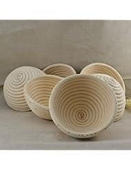 6 Pieces 5(13CM) Round Proofing Basket Banneton Brotform,Round Rattan Banneton Brotform Bread Proofing Proving Basket,Wholesale