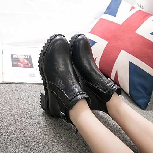 Chukka Up Military Winter Ankle Black Zipper Martin Desert Toe Rubber Lace Riding Lolittas Steel Heel Platform Boots Shoes Women High Calf Insoles Block dF7xwqX8