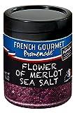 French Gourmet Promenade - Flower of Merlot Sea Salt for Meat, Fish & Vegetables - 5.3 oz