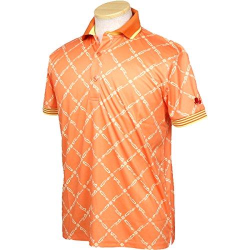 ポロシャツ メンズ フィッチェゴルフ バイ ドン コニシ FICCE GOLF BY DON KONISHI 2018 春夏 ゴルフウェア M(M) オレンジ(45) 281107
