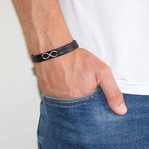 Men's Bracelet - Men's Cuff Bracelet - Men's Infinity Bracelet - Men's Leather Bracelet - Men's Jewelry - Male Jewelry - Male Bracelet - Jewelry For Men - Bracelets For Men