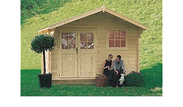 Gartenpro - Rosita - Caseta de madera para jardín de color abeto natural: Amazon.es: Jardín