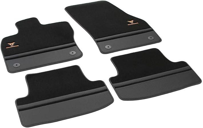 SEAT 576863011BLOE Lot de 4 Tapis de Sol en Tissu de qualit/é sup/érieure Noir//cuivre