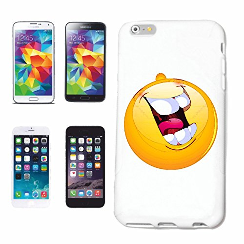 "cas de téléphone iPhone 4 / 4S ""RIRE LOUD sourire de EMOTICON de SMILEY ""SMILEYS SMILIES ANDROID IPHONE EMOTICONS IOS APP"" Hard Case Cover Téléphone Covers Smart Cover pour Apple iPhone en blanc"
