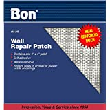 Bon 15-343 4-Inch by 4-Inch Self Adhesive Wall Repair Patch, 1-Pack
