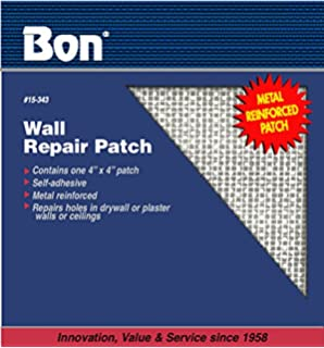 10cm x 10cm WALL REPAIR PATCH Metal Mesh Adhesive Sticky Wall Plastering Holes