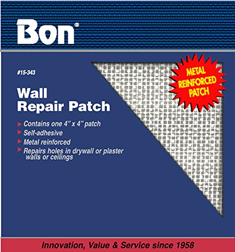 Bon 15-343 4-Inch Self Adhesive Wall Repair Patch, 1-Pack