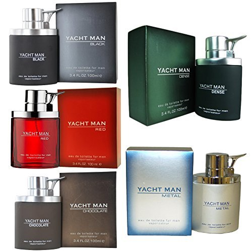 Red, Metal, Black, Dense Myrurgla Cologne 3.4 Oz Men (Yacht Man Metal)