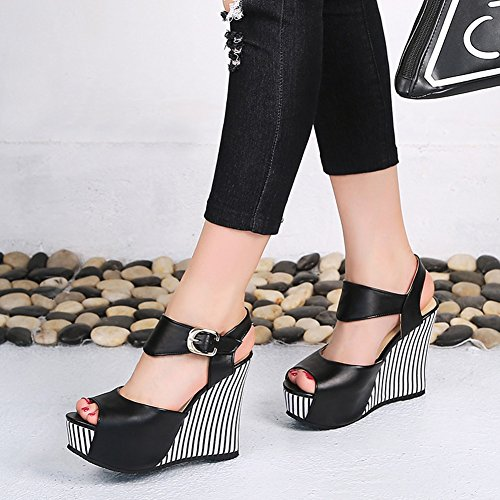 Sandalias Plataforma Pescado Slope Modelos de Mujer de Verano Boca de Hebilla tac Impermeable de Moda Zapatos OqpU7
