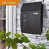 Mailbox/Letterbox/Postbox Model 444 Black Anthracite-Black (Black)
