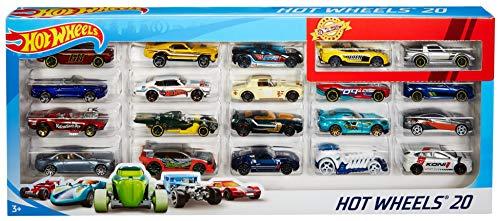 Hot Wheels 20 Car Gift Pack (Styles May Vary), Standard Packaging (Die Cast Drag Race Cars)