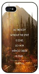 As for the body without the spirit is dead, so faith without seeds - James 2:26 - Sunny forest - Bible verse iPhone 4 / 4s black plastic case / Christian Verses by runtopwell