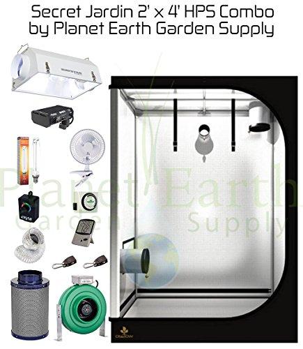 510CyjzDtZL Secret Jardin Grow Tent (2' x 4') HPS Combo Package #2