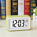 XH@G Small alarm clock/alarm clock/creative lazy man alarm clock , green